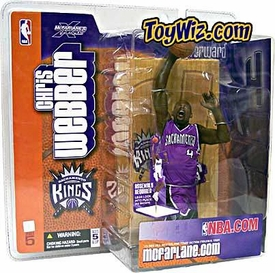 McFarlane Toys NBA Sports Picks Series 5 Action Figure Chris Webber (Sacramento Kings) Purple Jersey Variant