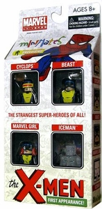 Marvel Minimates Exclusive Mini Figure 4-Pack Silver Age X-Men [Cyclops, Marvel Girl, Iceman & Beast] Only 2,000 Made!