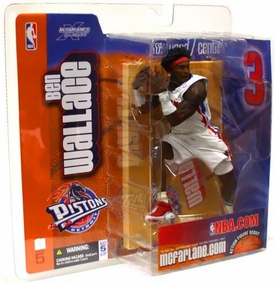 McFarlane Toys NBA Sports Picks Series 5 Action Figure Ben Wallace (Detroit Pistons) White Jersey BLOWOUT SALE!