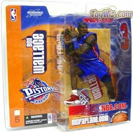 McFarlane Toys NBA Sports Picks Series 5 Action Figure Ben Wallace (Detroit Pistons) Blue Jersey Variant
