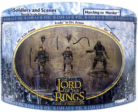 Lord of the Rings Armies of Middle Earth Soldiers and Scenes 3-Pack Marching To Mordor [Frodo, Sam & Orc]
