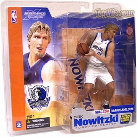 McFarlane Toys NBA Sports Picks Series 2 Action Figure Dirk Nowitzki (Dallas Mavericks) White Jersey Variant
