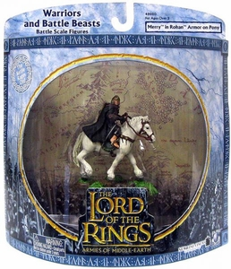 Lord of the Rings Armies of Middle Earth Warriors And Battle Beasts Merry in Rohan Armor on Pony