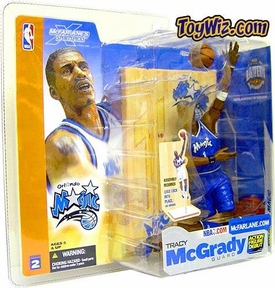 McFarlane Toys NBA Sports Picks Series 2 Action Figure Tracy McGrady (Orlando Magic) Blue Jersey Variant