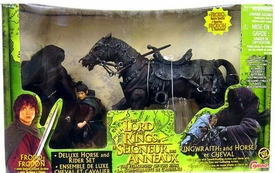 Lord of the Rings Fellowship of the Ring Frodo & Ringwraith with Horse Deluxe Horse & Rider Set