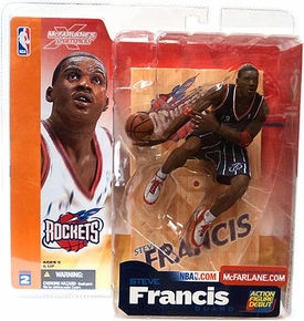 McFarlane Toys NBA Sports Picks Series 2 Action Figure Steve Francis (Houston Rockets) Dark Blue Jersey Variant