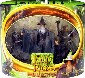 Lord of the Rings Fellowship of the Ring Gandalf, Boromir & Orc Overseer 3 Pack