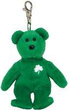 Ty Beanie Baby Erin the St. Patrick's Day Keychain Bear