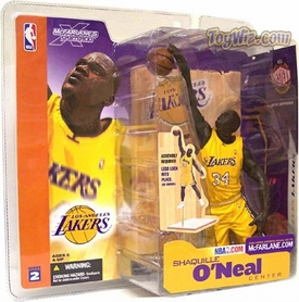 McFarlane Toys NBA Sports Picks Series 2 Action Figure Shaquille O'Neal (Los Angeles Lakers) Yellow Uniform