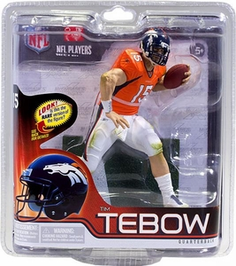 McFarlane Toys NFL Sports Picks Series 30 Action Figure Tim Tebow (New York Jets) Orange Jersey Bronze Collector Level Only 2,000 Made!