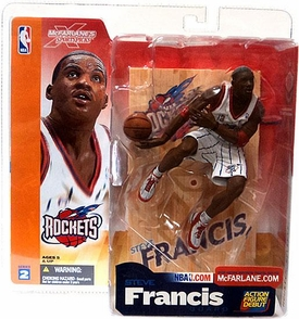 McFarlane Toys NBA Sports Picks Series 2 Action Figure Steve Francis (Houston Rockets) White Jersey