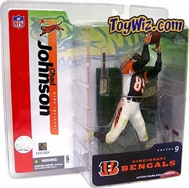 McFarlane Toys NFL Sports Picks Series 9 Action Figure Chad Johnson (Cincinnati Bengals) Black Jersey Variant