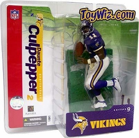 McFarlane Toys NFL Sports Picks Series 9 Action Figure Daunte Culpepper (Minnesota Vikings) Purple Jersey