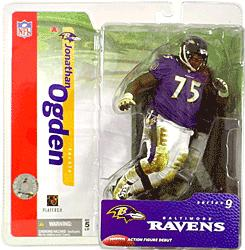 McFarlane Toys NFL Sports Picks Series 9 Action Figure Jonathan Ogden (Baltimore Ravens) Purple Jersey