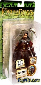 Lord Of The Rings Fellowship Of The Ring Collectors Series Action Figure Boromir with Sound