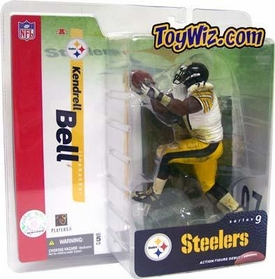 McFarlane Toys NFL Sports Picks Series 9 Action Figure Kendrell Bell (Pittsburgh Steelers) White Jersey
