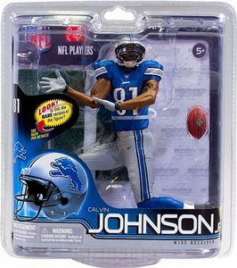 McFarlane Toys NFL Sports Picks Series 30 Action Figure Calvin Johnson (Detroit Lions) Blue Jersey
