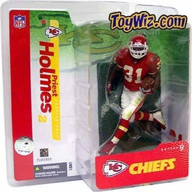 McFarlane Toys NFL Sports Picks Series 9 Action Figure Priest Holmes (Kansas City Chiefs) Red Jersey