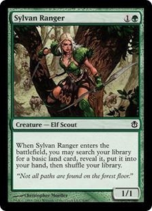 Magic the Gathering Duel Decks: Ajani vs. Nicol Bolas Single Card Green Common #8 Sylvan Ranger