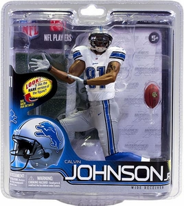 McFarlane Toys NFL Sports Picks Series 30 Action Figure Calvin Johnson (Detroit Lions) White Jersey Collector Level Only 2,000 Made!