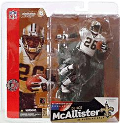 McFarlane Toys NFL Sports Picks Series 6 Action Figure Deuce McAllister (New Orleans Saints) White Jersey with Eye Black