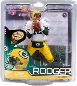 McFarlane Toys NFL Sports Picks Series 30 Action Figure Aaron Rodgers (Green Bay Packers) White Jersey