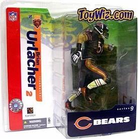McFarlane Toys NFL Sports Picks Series 9 Action Figure Brian Urlacher (Chicago Bears) Blue Jersey Blue Pants Variant
