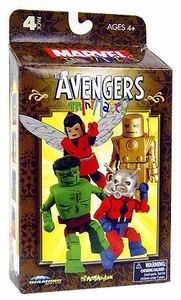 Marvel MiniMates Art Asylum Exclusive 4-Pack Box Set The Avengers [Iron Man, Ant Man, Wasp & Hulk]