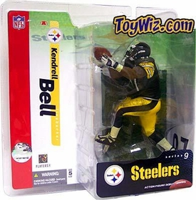 McFarlane Toys NFL Sports Picks Series 9 Action Figure Kendrell Bell (Pittsburgh Steelers) Black Jersey Variant