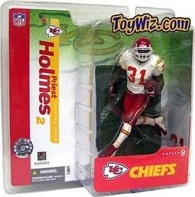 McFarlane Toys NFL Sports Picks Series 9 Action Figure Priest Holmes (Kansas City Chiefs) White Jersey Variant