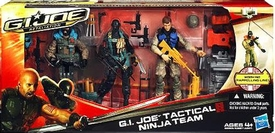 GI Joe Retaliation Movie Action Figure 3-Pack Tactical Ninja Team Snake Eyes, Sgt. Airborne & Agent Mouse