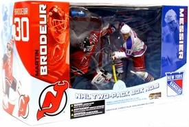 McFarlane Toys NHL Sports Picks Action Figure 2-Pack Martin Brodeur (New Jersey Devils) & Mark Messier (New York Rangers) Damaged Package, Mint Contents!