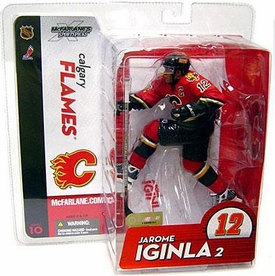 McFarlane Toys NHL Sports Picks Series 10 Action Figure Jarome Iginla (Calgary Flames) Red Jersey BLOWOUT SALE!