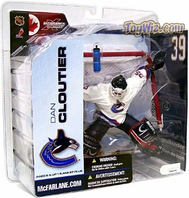 McFarlane Toys NHL Sports Picks Series 5 Action Figure Dan Cloutier (Vancouver Canucks) White Jersey Variant