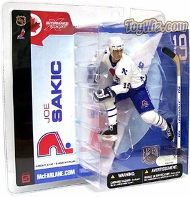 McFarlane Toys NHL Sports Picks Series 5 Action Figure Joe Sakic (Quebec Nordiques) White Jersey Variant