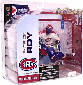 McFarlane Toys NHL Sports Picks Series 5 Action Figure Patrick Roy (Montreal Canadiens) White Jersey [Damaged Package, Mint Contents]