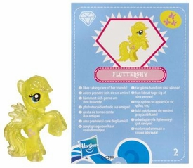 My Little Pony Friendship is Magic 2 Inch PVC Figure Series 3 Glitter Fluttershy [Blue Card]