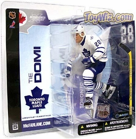 McFarlane Toys NHL Sports Picks Series 5 Action Figure Tie Domi (Toronto Maple Leafs) White Jersey