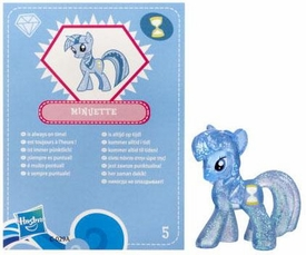 My Little Pony Friendship is Magic 2 Inch PVC Figure Series 3 Glitter Minuette (Colgate) [Blue Card]