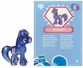 My Little Pony Friendship is Magic 2 Inch PVC Figure Series 3 Glitter Royal Riff [Blue Card]