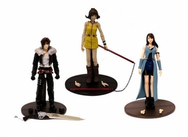 Final Fantasy VIII Play Arts Set of all 3 LOOSE Action Figures [Squall, Rinoa & Selphie]