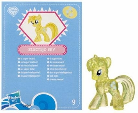 My Little Pony Friendship is Magic 2 Inch PVC Figure Series 3 Glitter Electric Sky [Blue Card]