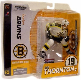 McFarlane Toys NHL Sports Picks Series 10 Action Figure Joe Thornton (Boston Bruins) White Jersey