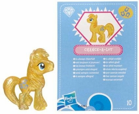 My Little Pony Friendship is Magic 2 Inch PVC Figure Series 3 Glitter Chance-a-Lot [Blue Card]