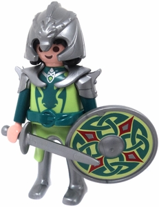 Playmobil LOOSE Mini Figure Green Dragon Knight with Celtic Shield