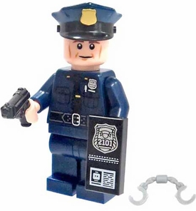 LEGO Military LOOSE Custom MiniFigure Police Officer with 9mm Service Pistol
