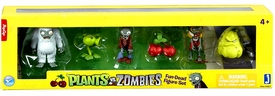 Plants vs Zombies 2 Inch Figure 6-Pack Cherry Bomb, Squash, Peashooter, Yeti, Zombie & Diver Zombie