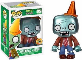 Funko POP! Plants vs Zombies 2013 SDCC San Diego Comic-Con Exclusive Vinyl Figure Conehead Zombie [Metallic]