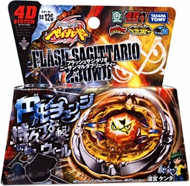 Beyblades JAPANESE Metal Fusion Starter Set #BB126 Flash Sagittario