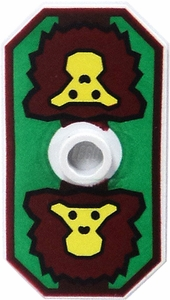LEGO Castle LOOSE Shield Large Twin Lion Sigil on Green Field Shield